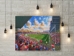 bescot stadium  canvas a3 size